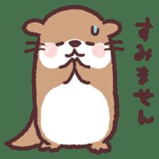 cute little otter sticker #13549024