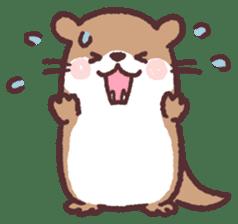 cute little otter sticker #13549025