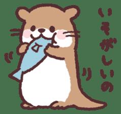 cute little otter sticker #13549026