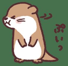 cute little otter sticker #13549027