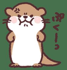 cute little otter sticker #13549028
