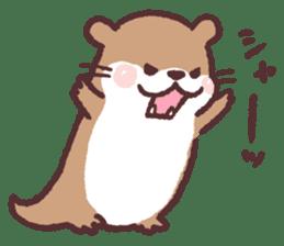cute little otter sticker #13549029