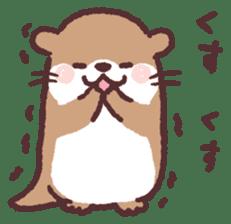 cute little otter sticker #13549030