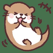 cute little otter sticker #13549031