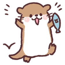 cute little otter sticker #13549032