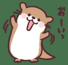 cute little otter sticker #13549035