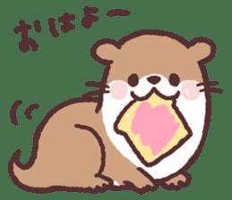 cute little otter sticker #13549036