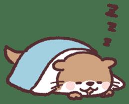 cute little otter sticker #13549037