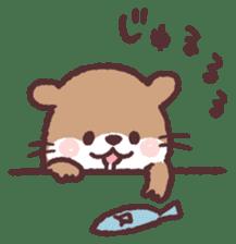 cute little otter sticker #13549038