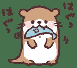 cute little otter sticker #13549039