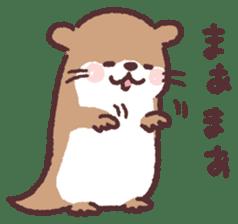 cute little otter sticker #13549041