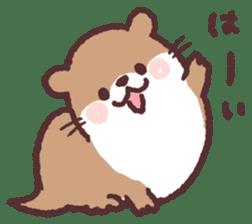 cute little otter sticker #13549042