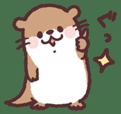 cute little otter sticker #13549043