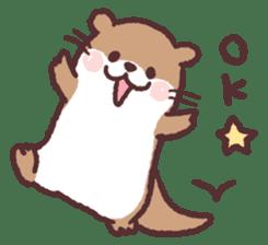 cute little otter sticker #13549044