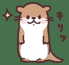 cute little otter sticker #13549045