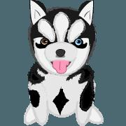 สติ๊กเกอร์ไลน์ Ava fluffy puppy
