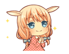 kemomimi girl animated sticker #13556690