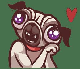 Creepy Pug sticker #13560963