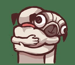 Creepy Pug sticker #13560966