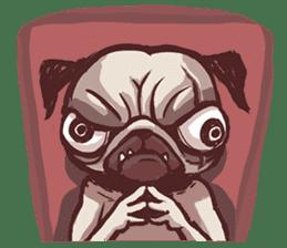 Creepy Pug sticker #13560971