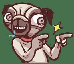 Creepy Pug sticker #13560972
