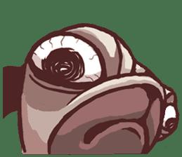 Creepy Pug sticker #13560978