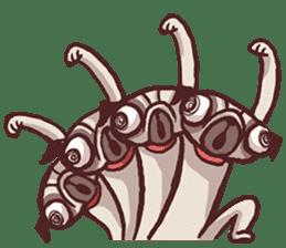 Creepy Pug sticker #13560984