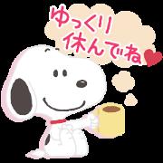 สติ๊กเกอร์ไลน์ Thoughtful Snoopy Stickers