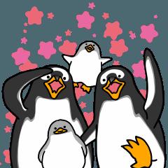 ペンギンスタンプ(ジェンツーペンギン3)