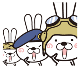 Non-verbal Strategy of rabbit Corps. sticker #13580336