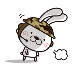 Non-verbal Strategy of rabbit Corps. sticker #13580341
