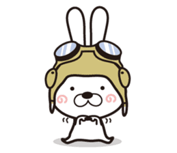 Non-verbal Strategy of rabbit Corps. sticker #13580342