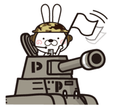 Non-verbal Strategy of rabbit Corps. sticker #13580345