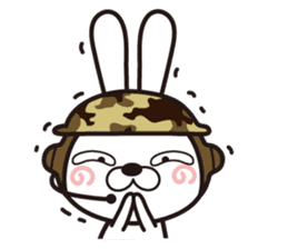 Non-verbal Strategy of rabbit Corps. sticker #13580346