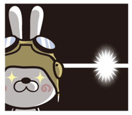 Non-verbal Strategy of rabbit Corps. sticker #13580348