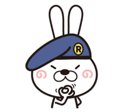 Non-verbal Strategy of rabbit Corps. sticker #13580349