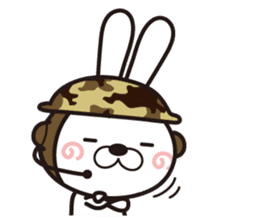Non-verbal Strategy of rabbit Corps. sticker #13580350