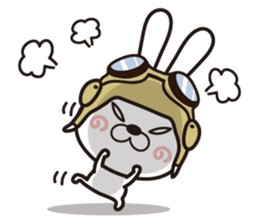Non-verbal Strategy of rabbit Corps. sticker #13580351