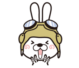 Non-verbal Strategy of rabbit Corps. sticker #13580353