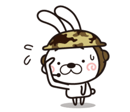 Non-verbal Strategy of rabbit Corps. sticker #13580355