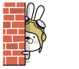 Non-verbal Strategy of rabbit Corps. sticker #13580358
