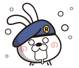 Non-verbal Strategy of rabbit Corps. sticker #13580361