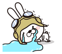 Non-verbal Strategy of rabbit Corps. sticker #13580366