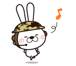 Non-verbal Strategy of rabbit Corps. sticker #13580367