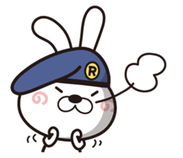 Non-verbal Strategy of rabbit Corps. sticker #13580369