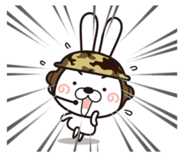 Non-verbal Strategy of rabbit Corps. sticker #13580371