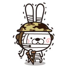 Non-verbal Strategy of rabbit Corps. sticker #13580372