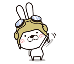 Non-verbal Strategy of rabbit Corps. sticker #13580373