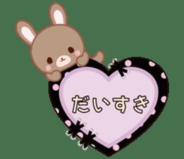 Lovey-Dovey bunnies Rai & Mai sticker #13582119