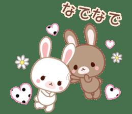Lovey-Dovey bunnies Rai & Mai sticker #13582122